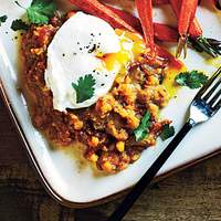 Spiced Lentils and Poached Eggs Recipe
