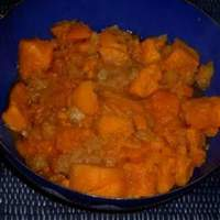 Spicy Glazed Sweet Potatoes and Pineapples Recipe