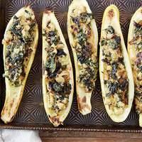 Spinach Stuffed Zucchini Recipe