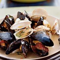 Steamed Mussels and Clams with Two Sauces Recipe