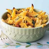 Three-Cheese Chicken Penne Florentine Recipe