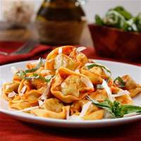 Three Cheese Tortellini with Traditional Sauce and Parmigiano Cheese  recipe