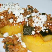 Turkey and Vegetable Ragout With Warm Polenta Rounds #A1 recipe