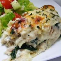 White Cheese Chicken Lasagna Recipe