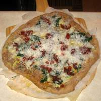 White Pizza With a Variety of Toppings Recipe