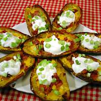 Yummy Baked Potato Skins Recipe