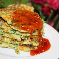 Zucchini,corn and Coriander Fritters Recipe