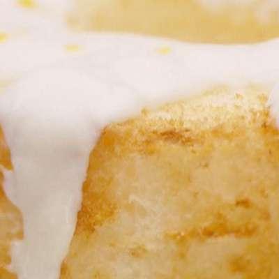 Angel Food Cake with Lemon Honey Yogurt Sauce - RecipeNode.com