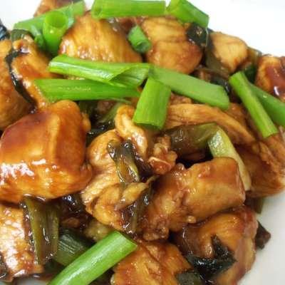 asian chicken and scallions - RecipeNode.com