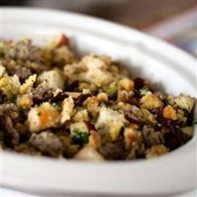 Awesome Sausage, Apple and Cranberry Stuffing - RecipeNode.com