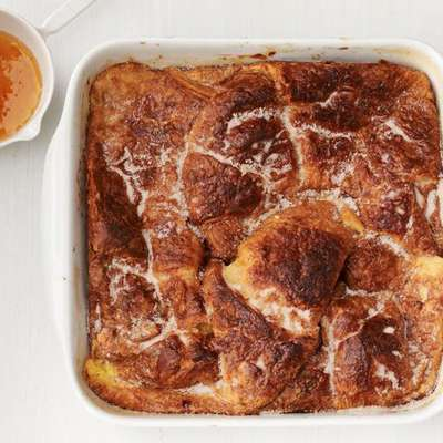 Baked Croissant French Toast With Orange Syrup - RecipeNode.com