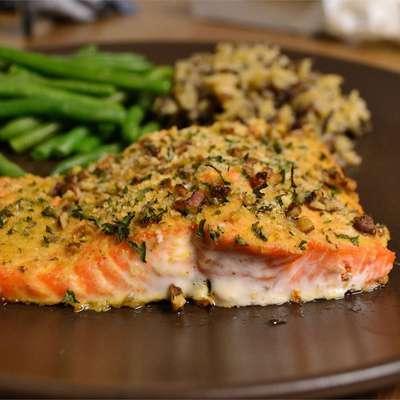 Baked Dijon Salmon - RecipeNode.com