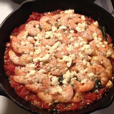 Baked Shrimp with Feta and Tomato - RecipeNode.com
