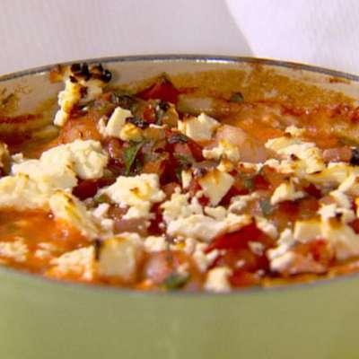 Baked Shrimp with Tomatoes and Feta - RecipeNode.com