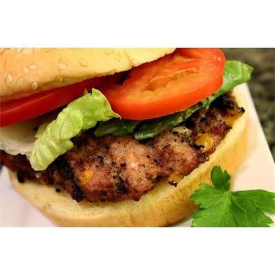 BBQ Feta and Hot Banana Pepper Turkey Burgers - RecipeNode.com