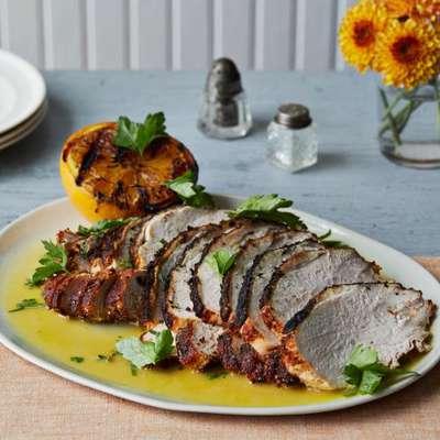 Brined Turkey Breast with Spanish Spice Rub and Sour Orange Sauce - RecipeNode.com