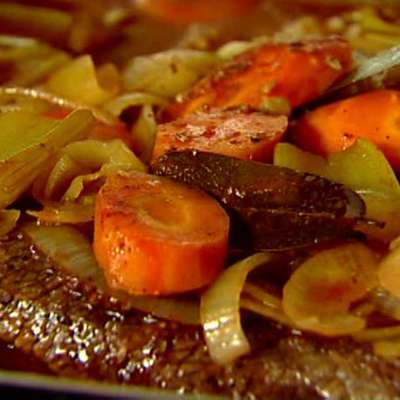 Brisket with Carrots and Onions - RecipeNode.com