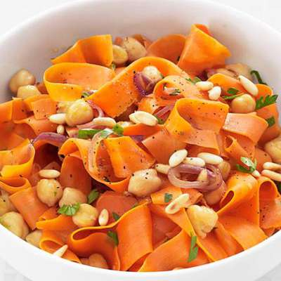 Carrots with Chickpeas and Pine Nuts - RecipeNode.com