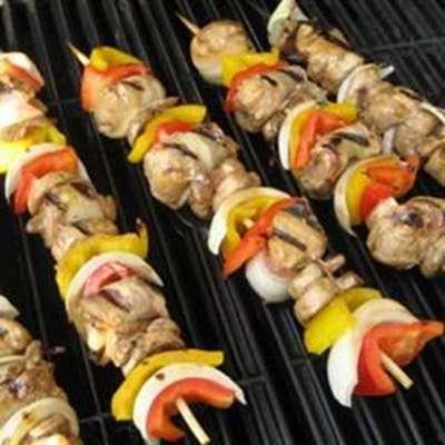 Chicken and Bacon Shish Kabobs - RecipeNode.com