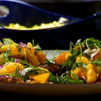 Chicken Cutlets with Orange and Arugula - RecipeNode.com