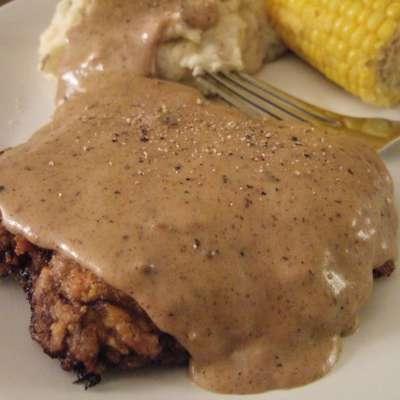 Chicken Fried Steak W/Cream Gravy - RecipeNode.com