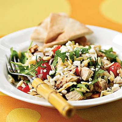 Chicken-Orzo Salad with Goat Cheese - RecipeNode.com