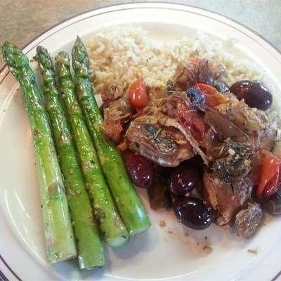Chicken Thigh Fricassee with Mushrooms and Rosemary - RecipeNode.com