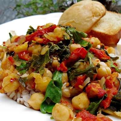 Chickpeas With Spinach (Greek) - RecipeNode.com