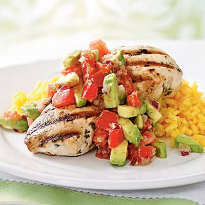 Cilantro-Lime Chicken with Avocado Salsa - RecipeNode.com