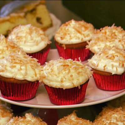 Coconut Cupcakes with Coconut Cream Cheese Frosting - RecipeNode.com