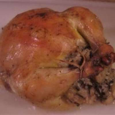Cornish Game Hens with Rice Stuffing - RecipeNode.com
