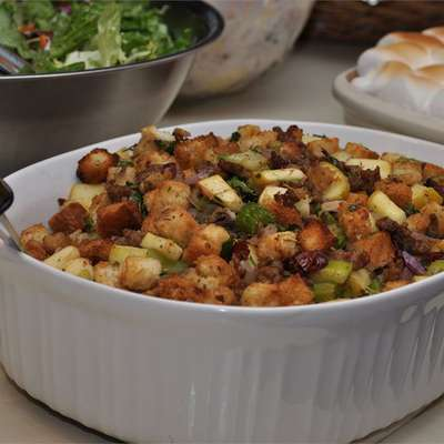 Cranberry, Sausage and Apple Stuffing - RecipeNode.com