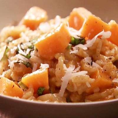 Creamy Baked Pumpkin Risotto - RecipeNode.com