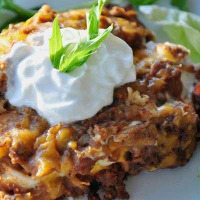 Creamy Burrito Casserole - RecipeNode.com