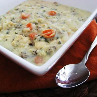 Creamy Chicken and Wild Rice Soup - RecipeNode.com
