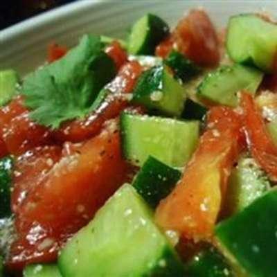Cucumber and Tomato Salad - RecipeNode.com