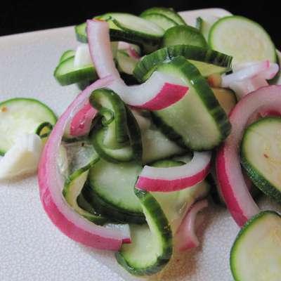 Cucumber-Zucchini Salad - RecipeNode.com