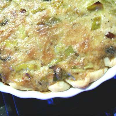French Leek Pie - RecipeNode.com