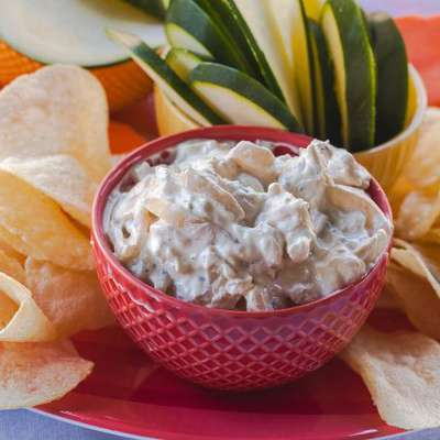 French Onion Dip and Chips - RecipeNode.com