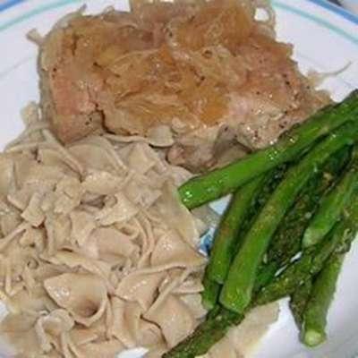 German Pork Chops and Sauerkraut - RecipeNode.com