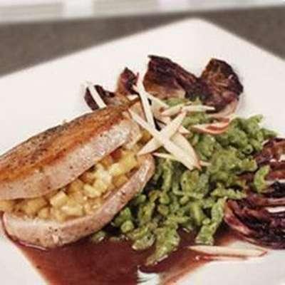 Gorgonzola and Apple Pork Chops - RecipeNode.com
