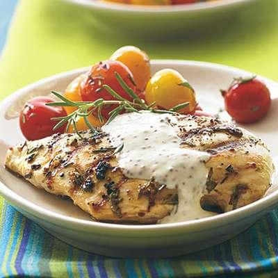 Grilled Chicken with Rustic Mustard Cream - RecipeNode.com