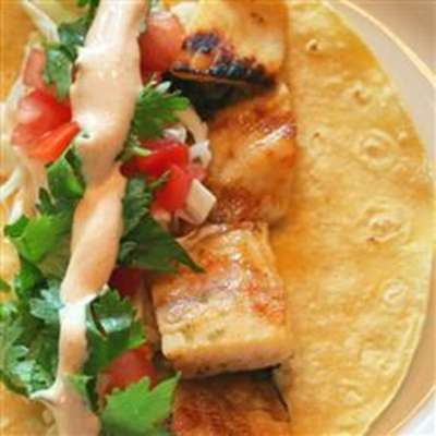 Grilled Fish Tacos with Chipotle-Lime Dressing - RecipeNode.com