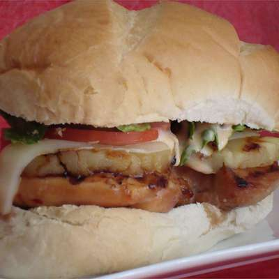 Grilled Hawaiian Chicken and Pineapple Sandwiches - RecipeNode.com