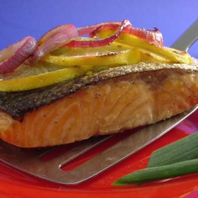 Grilled Lemon Salmon - RecipeNode.com
