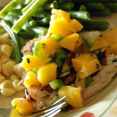 Grilled Tilapia with Mango Salsa - RecipeNode.com
