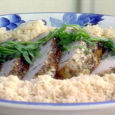 Herbed Pork Roast and Creamy Mushroom Gravy - RecipeNode.com