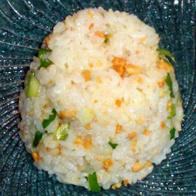 Japanese Rice With Salted Peanuts and Scallions - RecipeNode.com