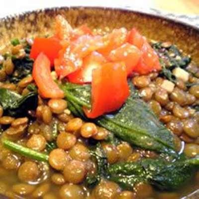 Lentils And Spinach - RecipeNode.com
