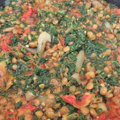 Lentils with Tomatoes - RecipeNode.com